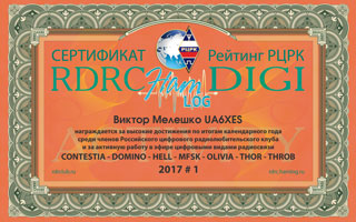 Итоги - Results RDRC HAMLOG DIGI Activity 2017